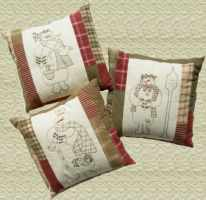 Snow Trio Pillow